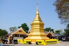 Chedi von Wat Phra That Doi Chom-Zapfen in Chiang Rai, Thailand Stockbild