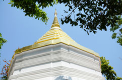 Chedi von Wat Phra Kaew Temple in Chiang Rai, Thailand Stockfotos