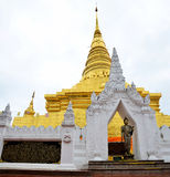 Chedi of Wat Phra That Chae Haeng temple for people visit and pr Royalty Free Stock Images