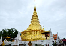 Chedi of Wat Phra That Chae Haeng temple for people visit and pr Stock Images