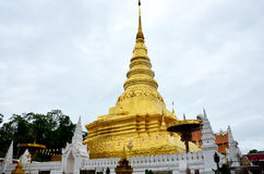 Chedi of Wat Phra That Chae Haeng temple for people visit and pr Stock Photos