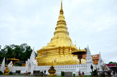 Chedi of Wat Phra That Chae Haeng temple for people visit and pr Royalty Free Stock Image