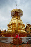 Chedi at Wat Phra That Doi Suthep Stock Photo