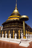Chedi of Wat Phra That Lampang Luang Royalty Free Stock Photos