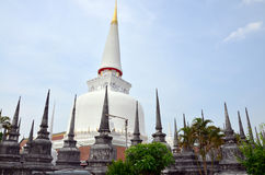 Chedi of Wat Phra Mahathat Woramahawihan Stock Photo