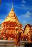 Chedi of Wat Phrathat Doi Suthep. Buddha Chedi in large gold-plated at Wat Phrathat Doi Suthep, Chiang Mai, Thailand Royalty Free Stock Photos