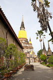 Chedi in wat yai chai mongkol Royalty Free Stock Photography