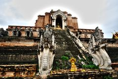 chedilaungpagoda thailand Arkivbild