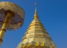 ChedinChiang Mai在北泰国。 免版税库存图片