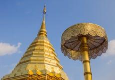 ChedinChiang Mai在北泰国。 库存图片