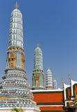 chedis全部宫殿stupas 免版税库存图片