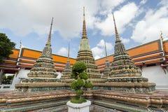 3 chedis на виске Wat Pho в Бангкоке Стоковые Изображения