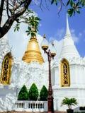 2 chedis с европейским стилем королевское cemetry на Wat Ratchabopit Стоковое Изображение RF