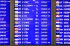 Chedules flights departing aircraft Royalty Free Stock Photo