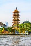 Chee Chin Khor pagoda, Praya river in Thonburi, Bangkok. The Chinese style Chee Chin Khor pagoda at the Chao Praya river side in Thonburi, Bangkok royalty free stock photography