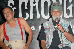 Cheech Marin,Tommy Chong,. Cheech Marin and Tommy Chong  at a press conference to announce the 'Cheech and Chong Light up America...' Comedy Tour. Troubadour Stock Images