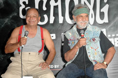 "Cheech Marin,Tommy Chong,. Cheech Marin and Tommy Chong  at a press conference to announce the ""Cheech and Chong Light up America..."" Comedy Tour. Troubadour Stock Photography"