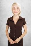Cheecky blondynki dziewczyna. Zdjęcia Royalty Free