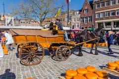 Cheee-Markt Goudastadt Stockfotos