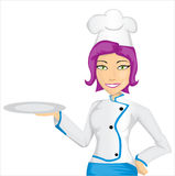 Cheef girl. Chef girl isolated on white Royalty Free Illustration