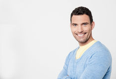Cheeful man posing with confidence Stock Photo