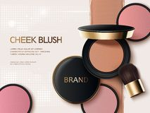 Cheek blush ads Royalty Free Stock Image