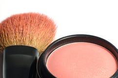 Cheek brush and brush on. Stock Image
