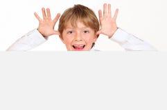Cheeky boy. Stock Photo