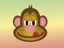 Cheeky cartoon monkey licking his lips Royalty Free Stock Images