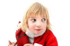 Cheeky christmas elf Stock Images