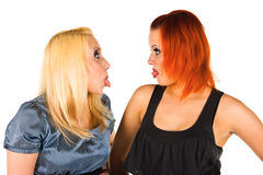 Cheeky girls Stock Photography