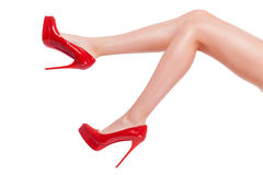 Cheeky heel. Royalty Free Stock Photo