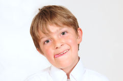 Cheeky kid. Royalty Free Stock Images