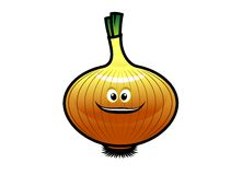 Cheeky little cartoon golden onion Royalty Free Stock Images