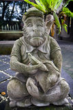 Cheeky Monkey Statue in Bali Royalty Free Stock Photography