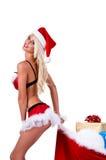 Cheeky Mrs Santa Christmas Royalty Free Stock Photo