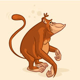 Cheeky orangutan monkey character. Vector mascot stock images
