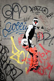 Cheeky Paris Graffiti Stock Photos
