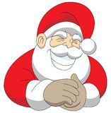 Cheeky santa. Mr. santa claus grinning in a cheeky way and rubbing his hands stock illustration