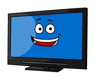 Cheeky smiling cartoon TV or monitor Royalty Free Stock Photography