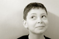 Cheeky young boy Royalty Free Stock Photography