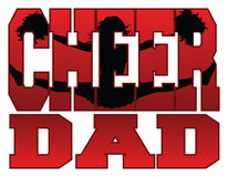 Cheer Dad. Illustration of a cheer design for cheerleaders dads. Includes a jumping cheerleader embedded in the word cheer vector illustration