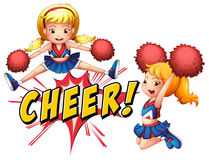 Cheer girls Royalty Free Stock Photography