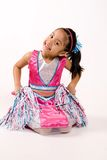 Cheer leader. The little Cheerleader with a great smile stock image
