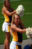 The cheer leaders in American College football Royalty Free Stock Images