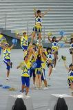 Cheer leaders performing Royalty Free Stock Photography