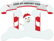 Cheer and merriment ahead Stock Images