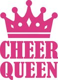 Cheer Queen with crown. Sports vector vector illustration
