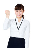 Cheer up asian business woman Stock Image