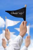 Cheer up flag. Concept image of cheer up flag Stock Images